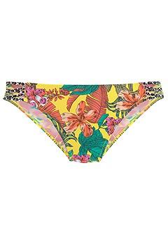 Tropical Bandeau Bikini Top, Strappy Classic Bikini Bottom