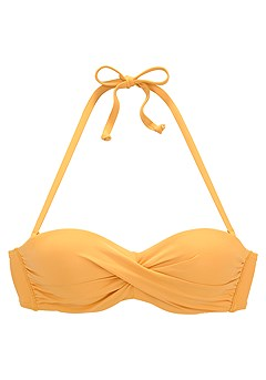 Ruched Underwire Bikini Top, Ruched Mid Rise Bikini Bottom product image (X22153YL_X28376YL_2)