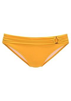 Strappy Underwire Bikini Top, Ruched Mid Rise Bikini Bottom product image (X22153YL_X28376YL_6)