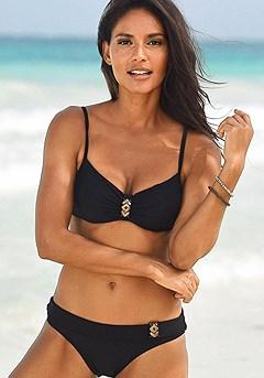 Sequin Underwire Bikini Top, Sequin Detail Bikini Bottom product image (X24033BK_X28067BK_00)