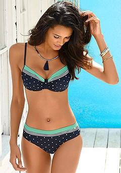 Polka Dot Underwire Top, Polka Dot Bikini Bottom product image (X24048-NWDT-X28095-NWDT-000)