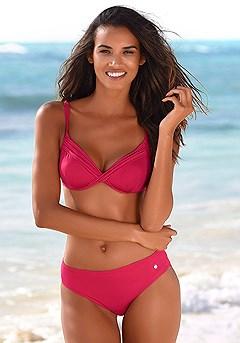 Twist Underwire Bikini Top, Wide Cut Bikini Bottom product image (X24049.RD.X25049.RD.00)