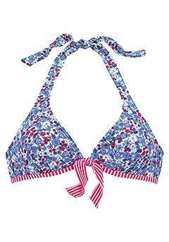 Halterneck Bikini Top, Bow Bikini Bottom product image (X24068-BLMU-01)