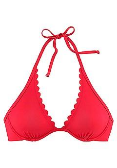 Scallop Underwire Bikini Top, Scalloped Waist Bikini Bottom product image (X24169.RD.2.p)