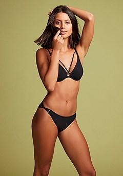 Strappy Underwire Bikini Top, Strappy Bikini Bottom product image (X24174BK_X28367BK_1)
