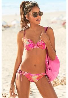 Tie Dye Underwire Bikini Top, Loop Classic Bikini Bottom product image (X24190PKMU_X25190PKMU_1)