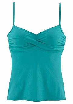 Twist Tankini Top, Classic Bikini Bottom product image (X26016-TQ_02-1)