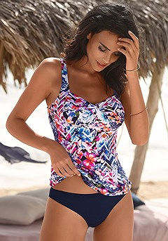 Underwire Tankini Top, Basic Bikini Bottom product image (X26040.NVPR.00)