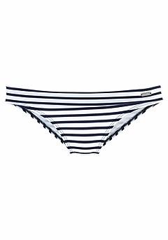 Pattern Underwire Bikini Top, Fold Over Classic Bikini Bottom product image (X28038_X24019-NVST_00)