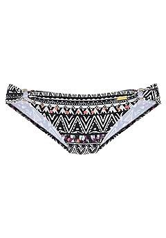 Triangle Loop Bikini Top, Ring Bikini Bottom product image (X28068-BKMU-01)