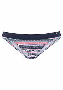 Striped Underwire Bikini Top, Print Classic Bikini Bottom product image (X28070.BLPK.P)
