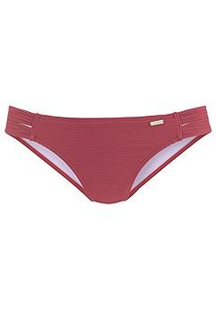 Ribbed Triangle Bikini Top, Strappy Classic Bikini Bottom product image (X28087.RT_1)