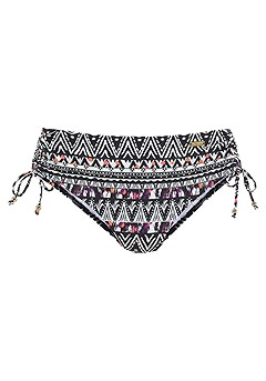 Classic Underwire Bikini Top, Mid Rise Bikini Bottom product image (X28105-BKMU-01)
