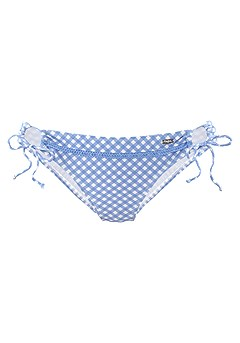 Gingham Triangle Bikini Top, Loop Classic Bikini Bottom product image (X28358WHBL_4)