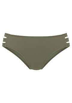 Strappy Triangle Bikini Top, Cut Out High Waisted Bikini Bottom product image (X28369OL_4)