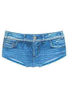 Tie-Dye Triangle Bikini Top, Boy Short Bikini Bottom product image (X28410DE_2)