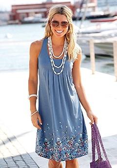Sleeveless Printed Dress product image (X29002-BL_01)