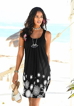 Sleeveless Printed Dress product image (X29002.BKPR.00)