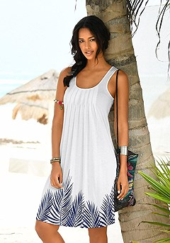 Sleeveless Print Mini Dress product image (X29002.WHPR.00)