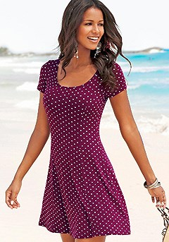 Polka Dot Print Dress product image (X29006-BDMU_01)