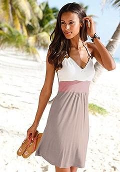 Color Block Mini Dress product image (X29013-tpmu.k)