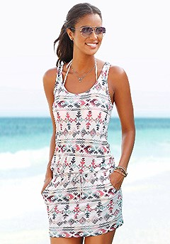 Sporty Print Tank Dress product image (X29031-WHMU_00)