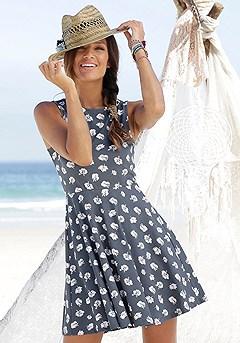 Sleeveless Patterned Dress product image (X29041-SMBL-000-S)