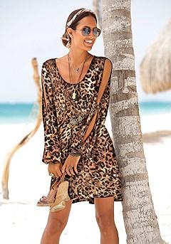 Cold Shoulder Dress product image (X29050.LE_1)
