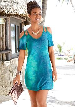 Cold Shoulder Dress product image (X29051.LBWH_1)