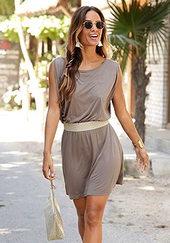 Belted Flowy Dress product image (X29077_GY_M)