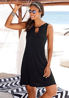 Keyhole Neckline Dress product image (X29104.BK.6-S)