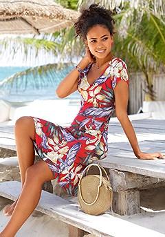 Pattern V-Neck Dress product image (X29109-RDMU-X63002-NA-00)