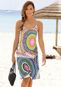Psychedelic Print Dress product image (X29117.MUPR.1S)