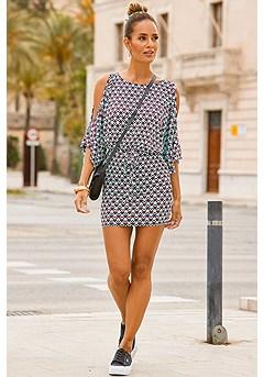Wide Sleeve Dress product image (X29135-TQMU_1)
