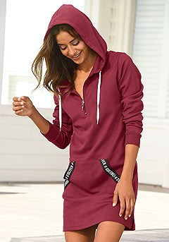 Good Vibes Hoodie Dress product image (X29143-WI-0-S)
