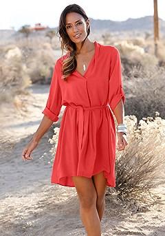 Tab Sleeve Dress product image (X29152_RD_M)