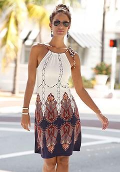 High Neck Boho Dress product image (X29153-MUPR-K)