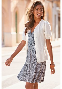 Wrap Look Printed Dress product image (X29439-GYPR_F07012-CR)