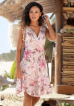 Wrap Look Printed Dress product image (X29439RDPR)