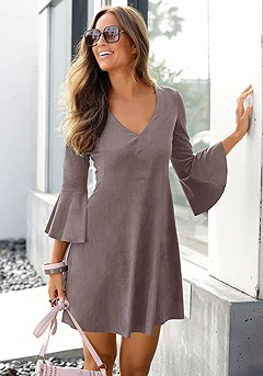 Suede Flare Dress product image (X29440TP_M)