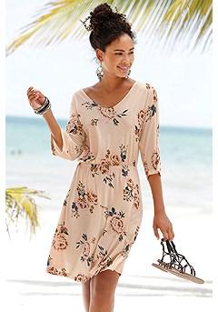 Flowy Floral Cut Out Dress product image (X29442MUPR.1)