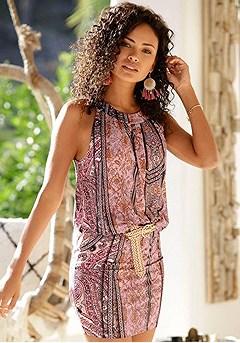 Sleeveless Patterned Mini Dress product image (X29452.MUPR.O.1)