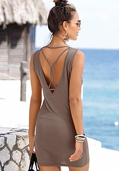 Back Cut Out Dress product image (X29456BR.2)