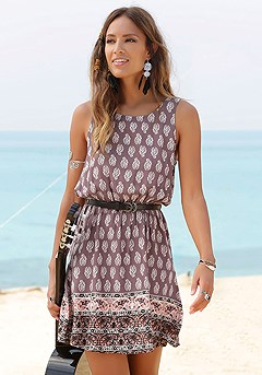 Boho Print Dress product image (X29458PUMU)