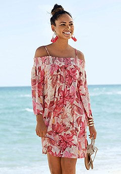 Floral Carmen Style Dress product image (X29468RDPR)