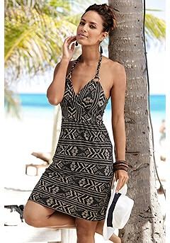 Boho Halter Dress product image (X29472BKCR)