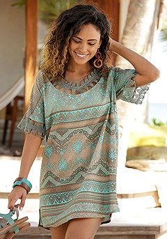 Boho Print Cover Up product image (X29473TQPR)