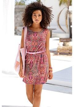Boho Cinched Waist Dress product image (X29492PKMU_1)