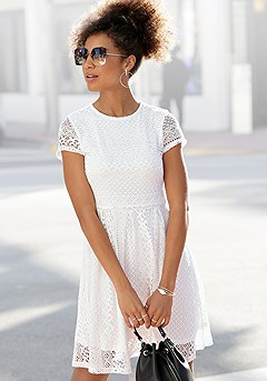 Layered Lace Dress product image (X29509.WH_1)