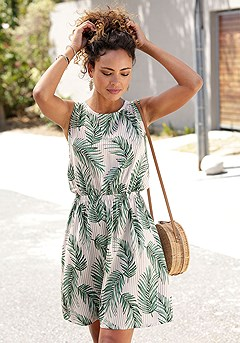 Tropical Tie Back Dress product image (X29510MUPR_1)